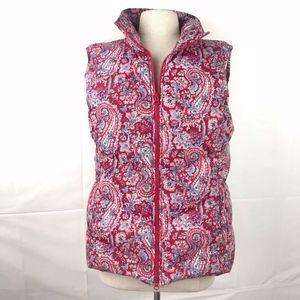 Talbots Puffer Vest, Paisley Print, S: L